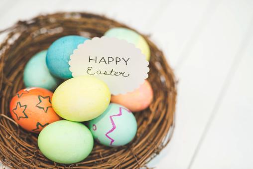 Easter Basket「Handmade woven Easter basket of eggs」:スマホ壁紙(0)