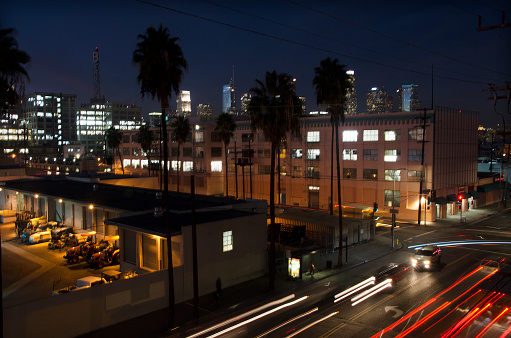Motorcycle「Downtown L.A. at night」:スマホ壁紙(14)