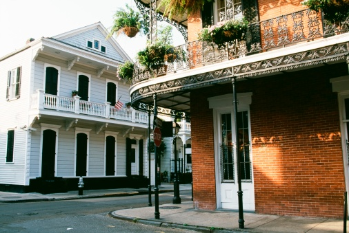 Corner「Historic French Quarter, New Orleans, Louisiana, United States of America」:スマホ壁紙(5)