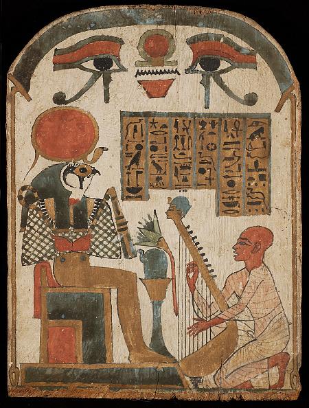 楽器「The Harpists Stele. Djedkhonsuefankh,」:写真・画像(2)[壁紙.com]