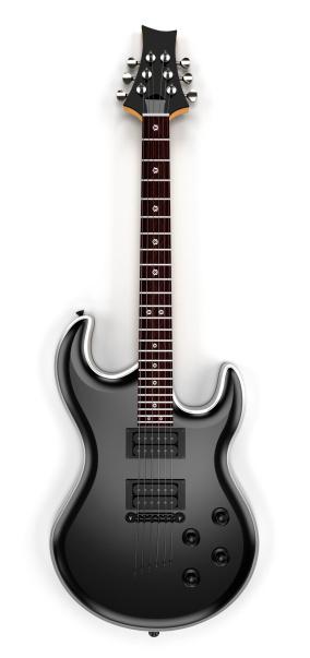 ロックミュージック「ブラックエレキギター」:スマホ壁紙(6)