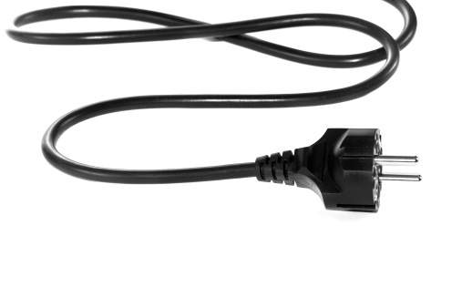 Cable「Black electric cable isolated on white background」:スマホ壁紙(0)