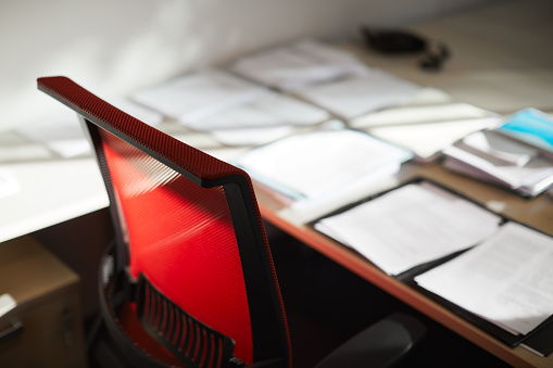 Small Office「A working spot with documents and paper work.」:スマホ壁紙(10)
