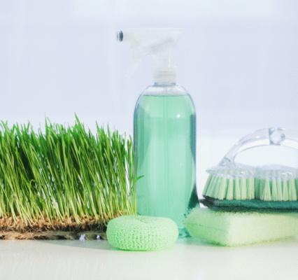 Cleaning Equipment「Cleaning supplies beside grass」:スマホ壁紙(8)