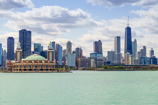 Great Lakes「Chicago skyline from Lake Michigan」:スマホ壁紙(2)