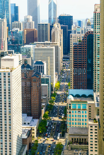 Avenue「Chicago skyscrapers on North Michigan Avenue」:スマホ壁紙(19)