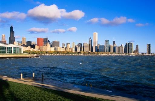 Great Lakes「Chicago skyline, Illinois, USA」:スマホ壁紙(11)