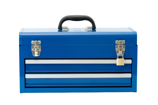 Security「Locked Blue Toolbox」:スマホ壁紙(11)