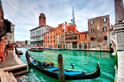 Gondola「ゴンドラには、ヴェネチアのラグーンに沈む夕日」:スマホ壁紙(18)