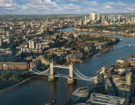 London Bridge - England「London Tower Bridge Thames Aerial」:スマホ壁紙(0)