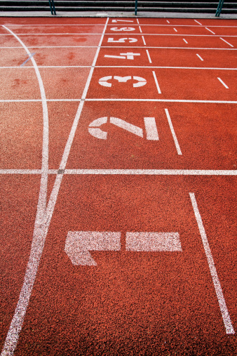 Track and Field Stadium「Painted numbers on running track」:スマホ壁紙(7)