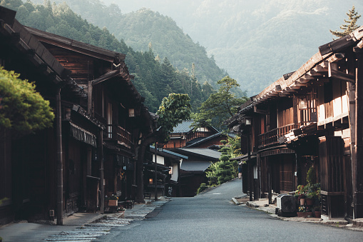 Non-Urban Scene「Japanese Village with Ryokan houses」:スマホ壁紙(19)