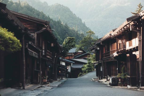 Japanese Village with Ryokan houses:スマホ壁紙(壁紙.com)