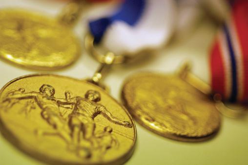 オリンピック「Soccer medals, close-up」:スマホ壁紙(15)