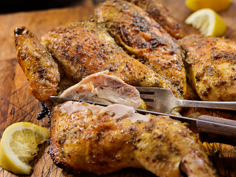 Chicken Wing「Roasted Spatchcock Lemon Chicken with Roasted Potatoes」:スマホ壁紙(18)