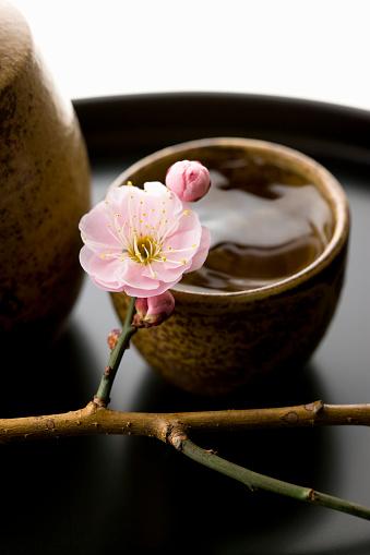 梅の花「Sake and plum blossoms」:スマホ壁紙(5)