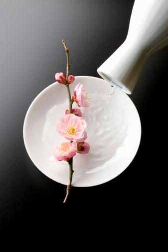 梅の花「Sake and plum blossoms」:スマホ壁紙(1)