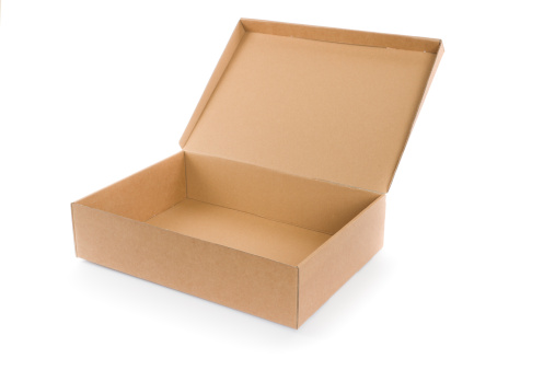 Lid「empty open cardboard box isolated on white」:スマホ壁紙(2)