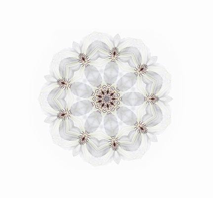 Innocence「White Clematis Mandala」:スマホ壁紙(19)