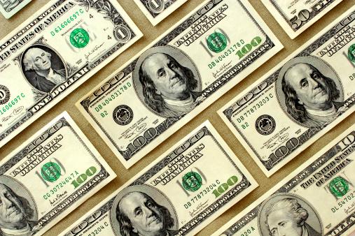 Economic fortune「Dollars」:スマホ壁紙(12)