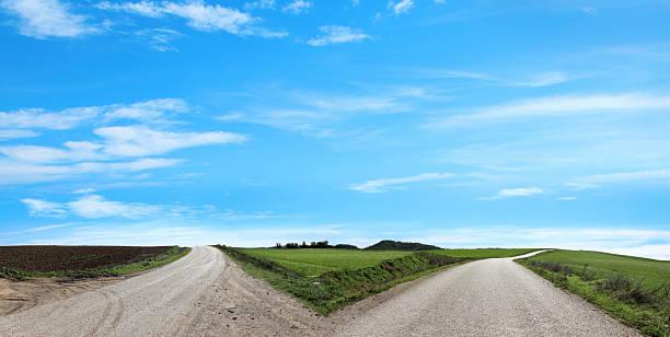 empty forked road:スマホ壁紙(壁紙.com)