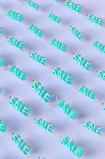 Credit Card Purchase「Pop art word SALE on a purple background. 3d render illustration.」:スマホ壁紙(16)