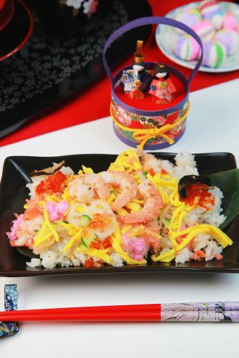 ひな祭り「Sushi rice in a box」:スマホ壁紙(19)