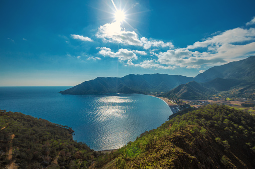 Turquoise Colored「Amazing aerial view of Adrasan in Antalya」:スマホ壁紙(17)