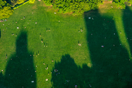 Aerial View「Sheep Meadow in Central Park NYC looking down」:スマホ壁紙(8)