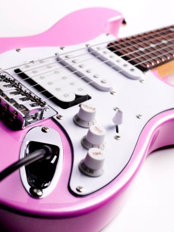 Guitar「Pink electric guitar limited focus」:スマホ壁紙(12)