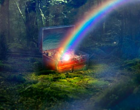 虹「end of the rainbow」:スマホ壁紙(7)