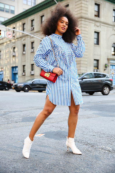 Striped「Street Style - New York Fashion Week September 2019 - Day 7」:写真・画像(14)[壁紙.com]