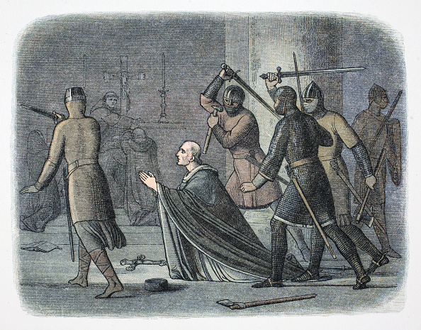 Church「Murder Of Thomas Becket Canterbury Cathedral Kent 1170 (1864)」:写真・画像(8)[壁紙.com]