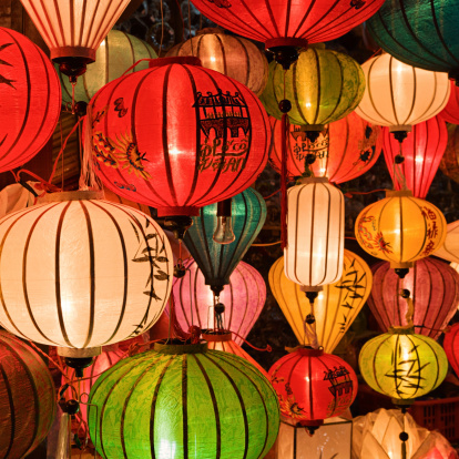 Chinese Lantern「Silk lanterns in Hoi An city, Vietnam」:スマホ壁紙(8)