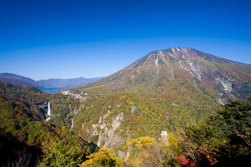 Nikko City「Kegon-no-taki waterfall and Lake Chuzenji, Tochigi Prefecture, Honshu, Japan」:スマホ壁紙(3)