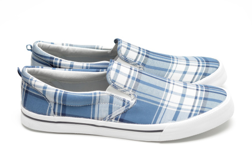 タータンチェック「キャンバスの靴」:スマホ壁紙(16)