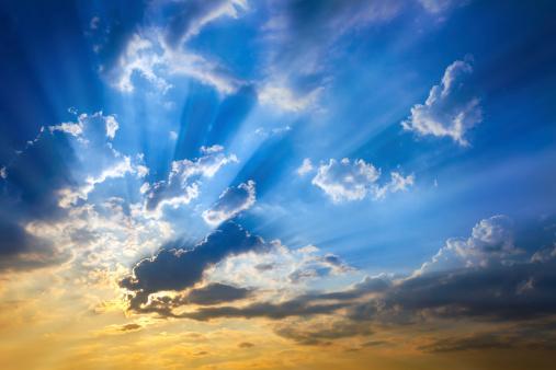 cloud「空に太陽ビームズ」:スマホ壁紙(1)