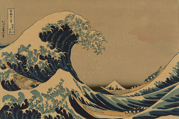 """Mount Fuji「The Great Wave Off The Coast Of Kanagawa (From A Series """"36 Views Of Mount Fuji"""")」:写真・画像(8)[壁紙.com]"""