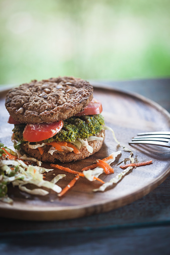 Veggie Burger「Burger for vegetarians. Burger with falafel.」:スマホ壁紙(16)