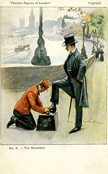 1900「A shoeblack at work, London」:写真・画像(15)[壁紙.com]