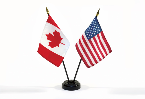 Election「Canada and USA flags isolated」:スマホ壁紙(6)