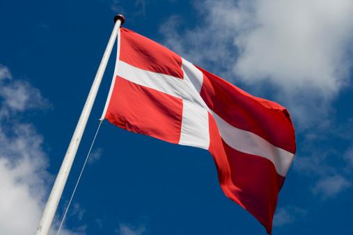 Denmark「Dannebrog Danish flag.」:スマホ壁紙(2)