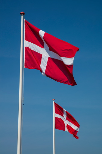 Danish Culture「Dannebrog Danish national flags, Ronne, Bornholm, Denmark」:スマホ壁紙(10)