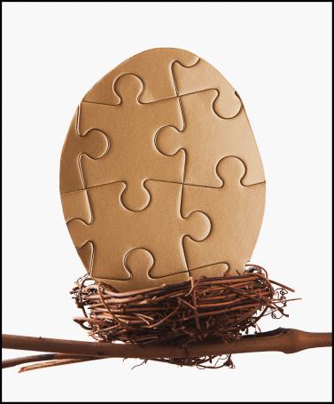Animal Egg「Puzzle egg in bird's nest」:スマホ壁紙(10)