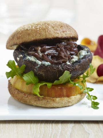 Veggie Burger「Portabella Mushroom Burger」:スマホ壁紙(1)
