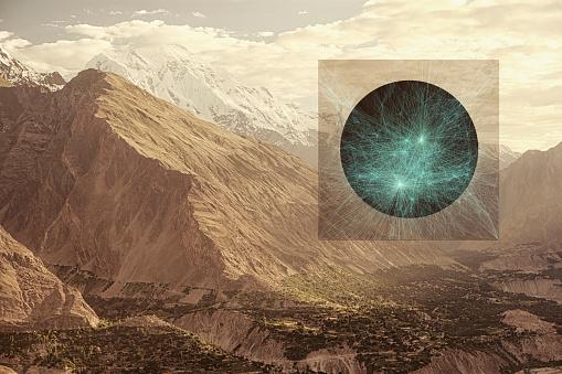 Multiple Exposure「Glowing sphere in mountains, Hunza, Northern Areas, Pakistan」:スマホ壁紙(14)