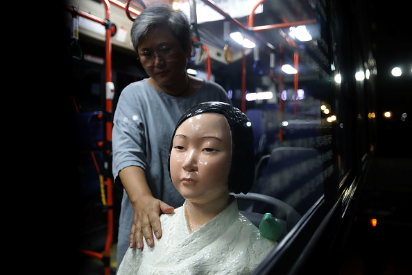 Seoul「Seoul Bus Runs With 'Comfort Woman' Sex Slave Statue Ahead Of Liberation Day」:写真・画像(19)[壁紙.com]