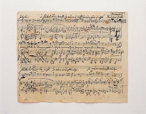 Handwriting「Sheet of Music」:スマホ壁紙(0)