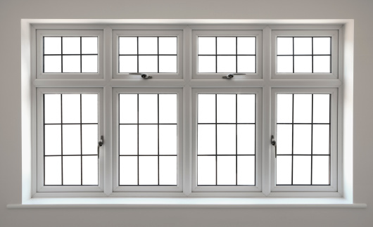 Window Frame「white leaded glass windows with clipping path」:スマホ壁紙(14)
