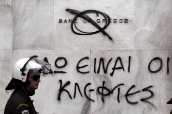 Graffiti「Greeks March In Protest To Austerity Cuts」:写真・画像(15)[壁紙.com]